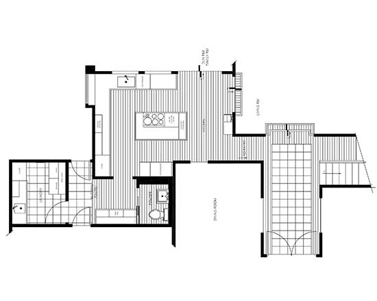 contemporary kitchen floor plan
