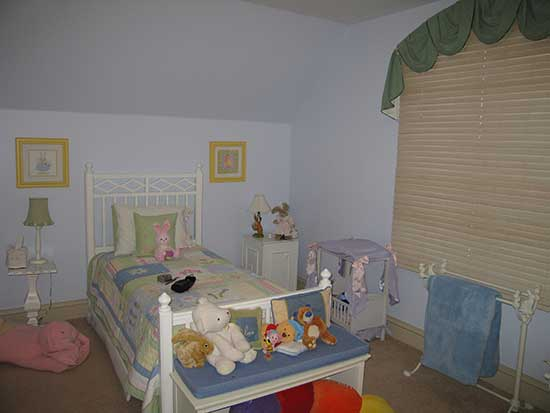 child's bedroom before